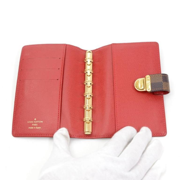 Louis Vuitton Agenda Fonctionnel PM Ebene Damier Canvas Agenda Cover For Sale 4