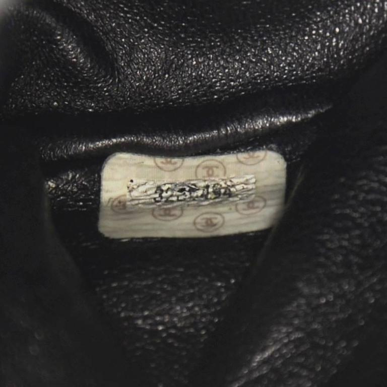 Chanel Black Quilted Lambskin Leather Medium Backpack Bag 9
