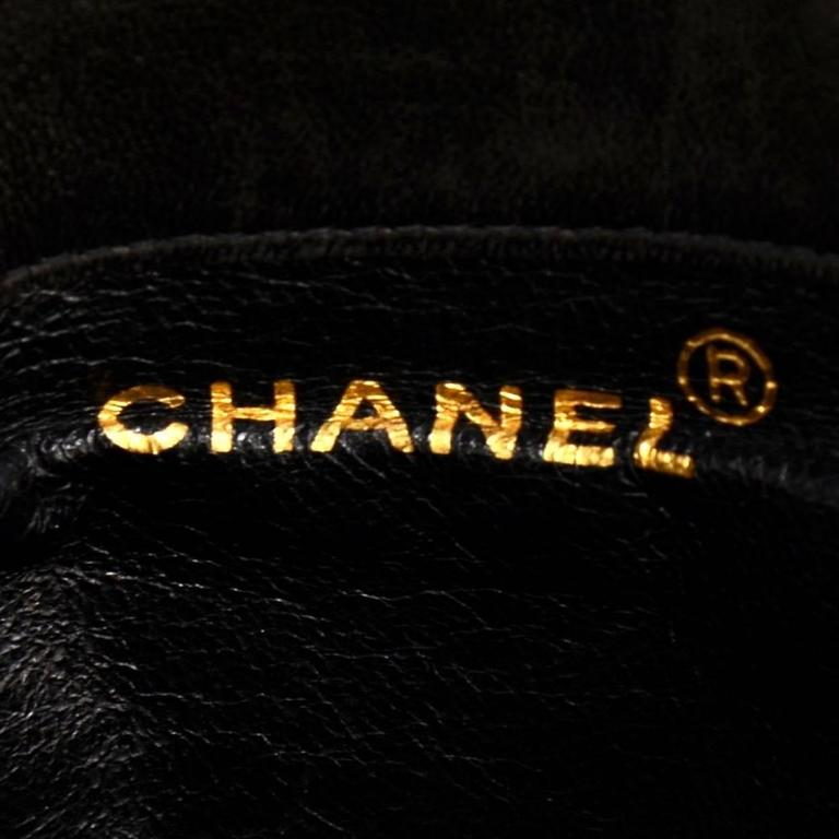 Chanel Black Quilted Lambskin Leather Medium Backpack Bag 8