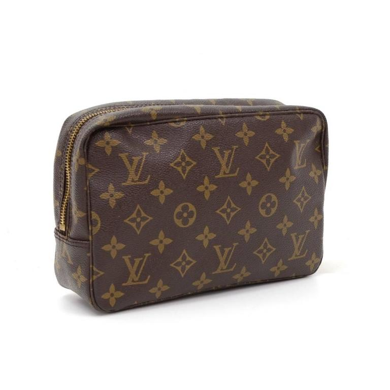 Black Vintage Louis Vuitton Trousse Toilette 23 Monogram Canvas Cosmetic Pouch For Sale