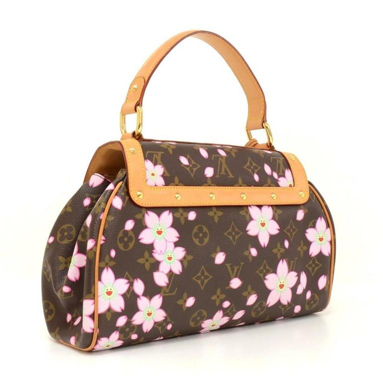 Louis Vuitton Sac Retro PM Cherry Blossom Monogram Canvas Murakami Hand Bag  3