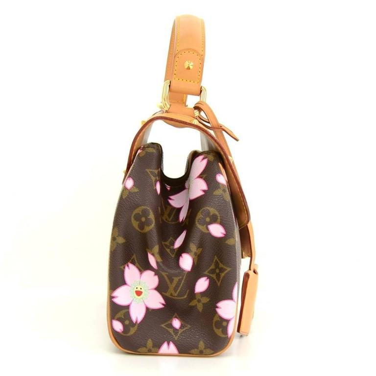 Louis Vuitton Sac Retro PM Cherry Blossom Monogram Canvas Murakami Hand Bag  5