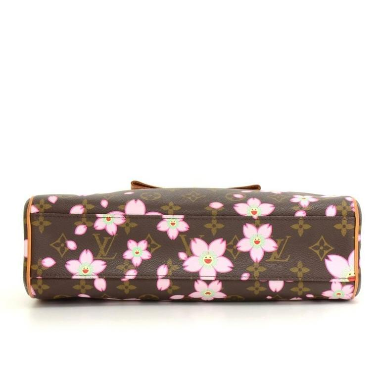 Louis Vuitton Sac Retro PM Cherry Blossom Monogram Canvas Murakami Hand Bag  6
