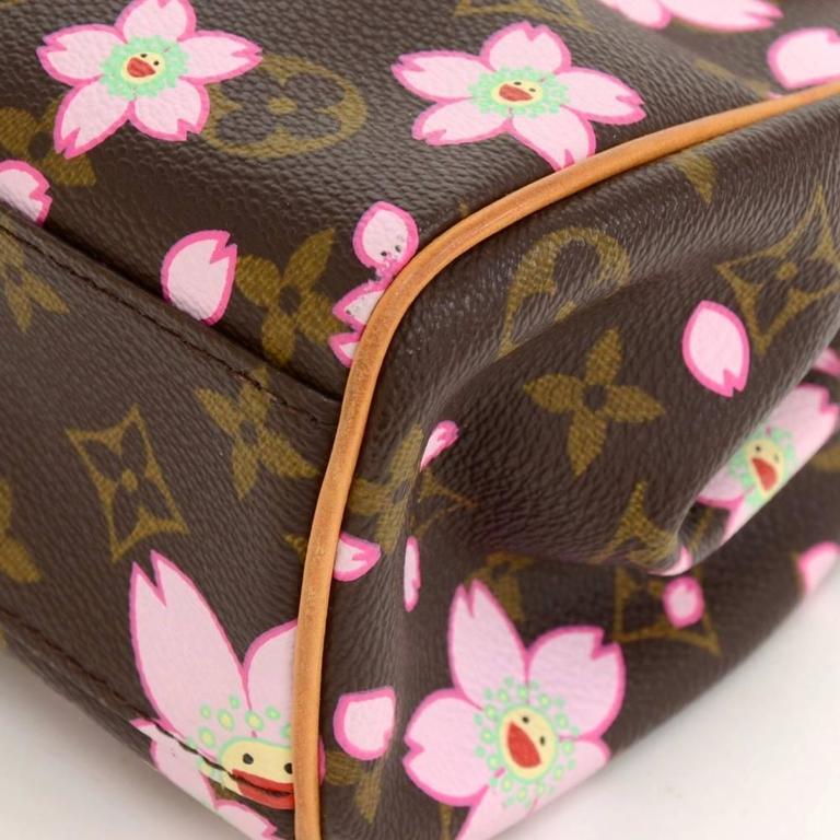 Louis Vuitton Sac Retro PM Cherry Blossom Monogram Canvas Murakami Hand Bag  For Sale 2