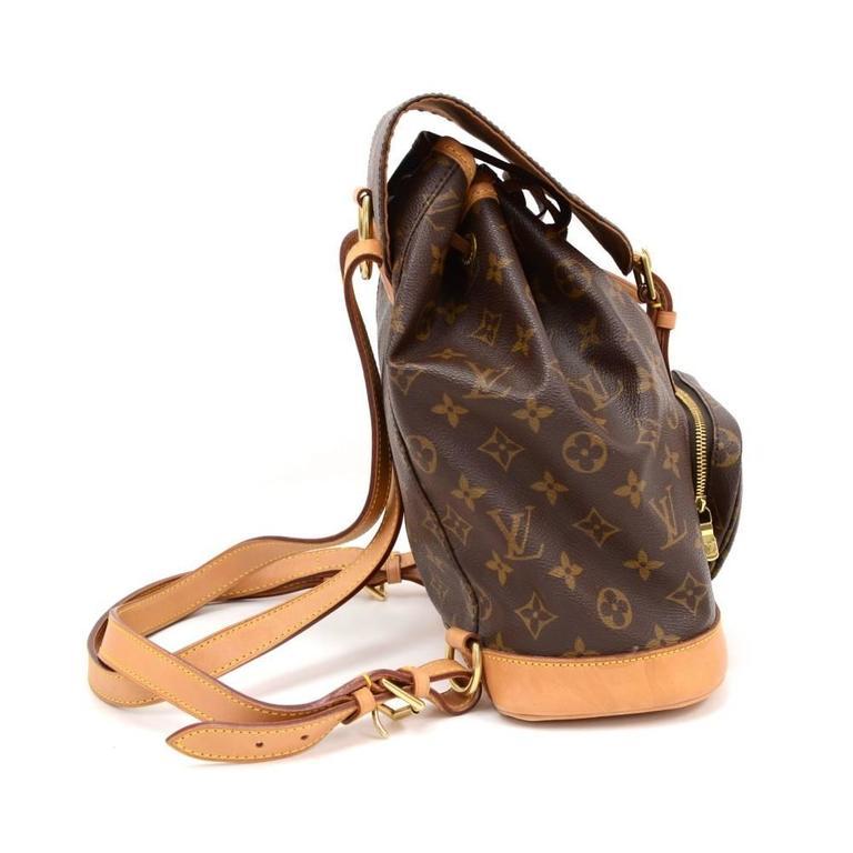 Louis Vuitton Moyen Montsouris MM Monogram Canvas Backpack Bag 3