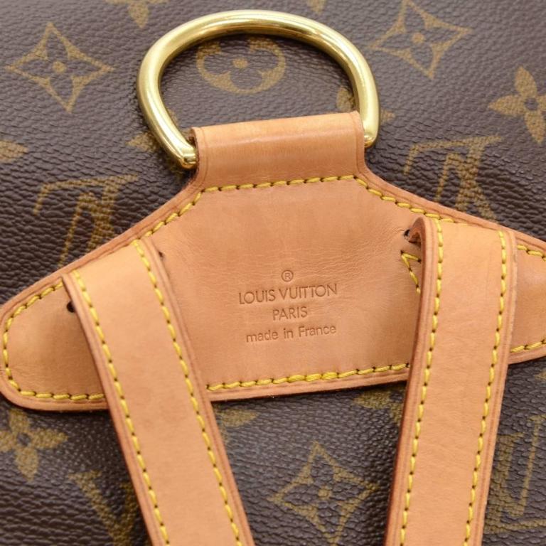 Louis Vuitton Moyen Montsouris MM Monogram Canvas Backpack Bag 8