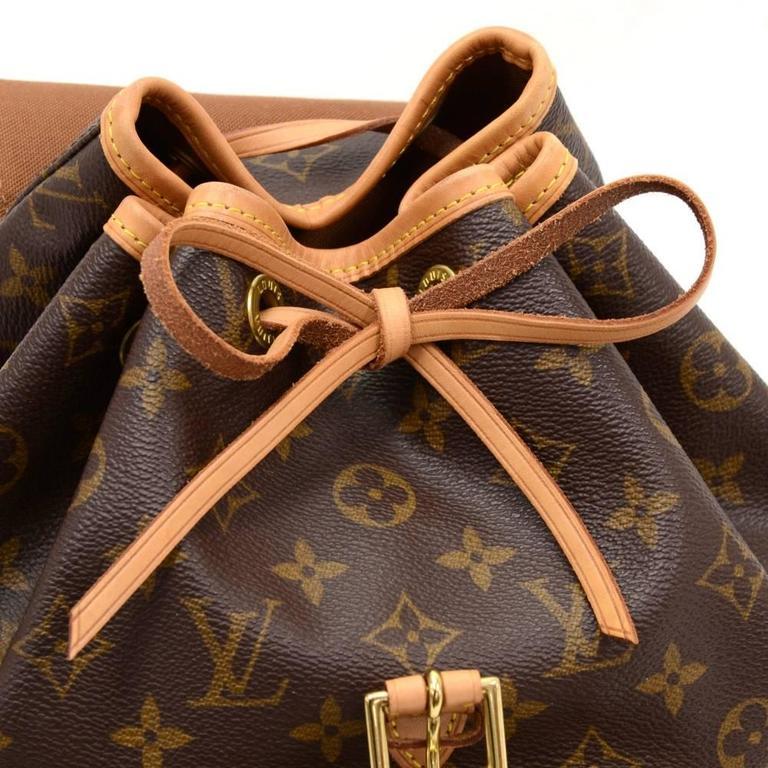 Louis Vuitton Moyen Montsouris MM Monogram Canvas Backpack Bag 7