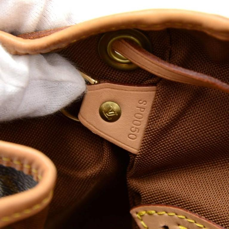 Louis Vuitton Moyen Montsouris MM Monogram Canvas Backpack Bag 10