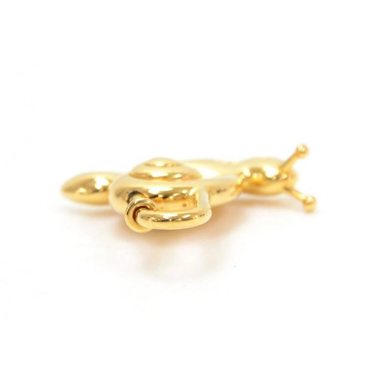 Hermes Annee De La Main Gold Tone Snail Cadena Lock Charm - 1995 Limited  For Sale 2