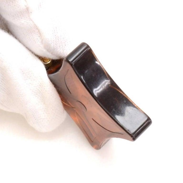 Louis Vuitton Brown Monogram Motif Plastic Key Holder 5