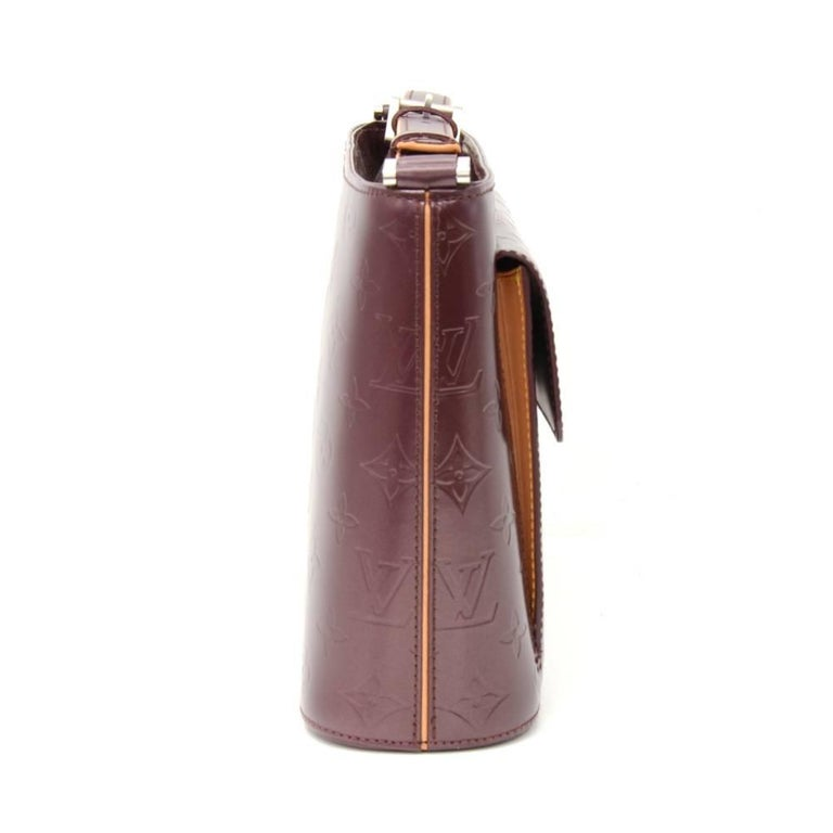 Louis Vuitton Allston Purple Monogram Mat Leather Shoulder Bag  In Good Condition For Sale In Fukuoka, JP