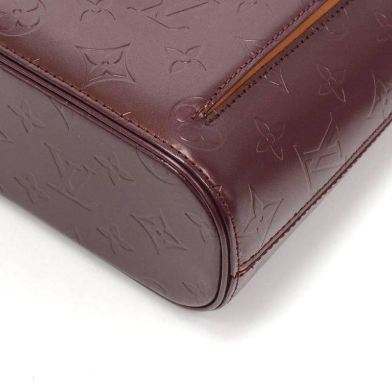 Louis Vuitton Allston Purple Monogram Mat Leather Shoulder Bag  For Sale 3