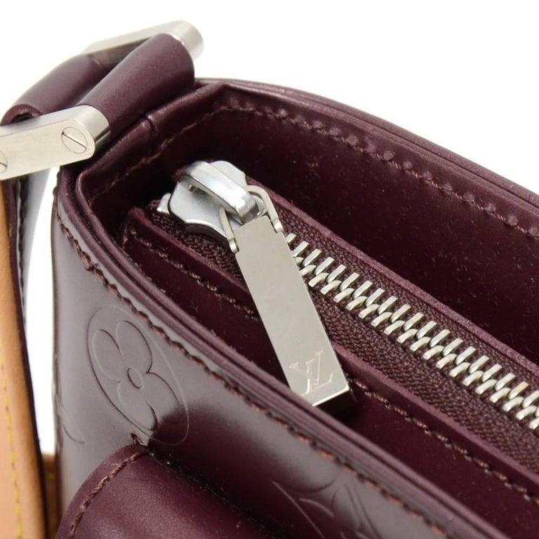 Louis Vuitton Allston Purple Monogram Mat Leather Shoulder Bag  For Sale 1