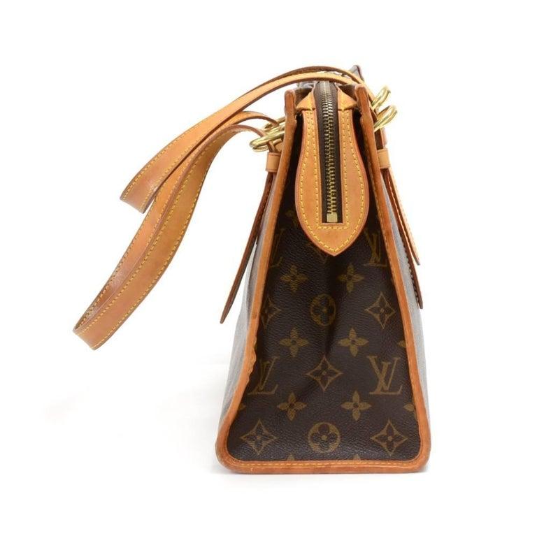 Brown Louis Vuitton Popincourt Haut Monogram Canvas Shoulder Hand Bag  For Sale