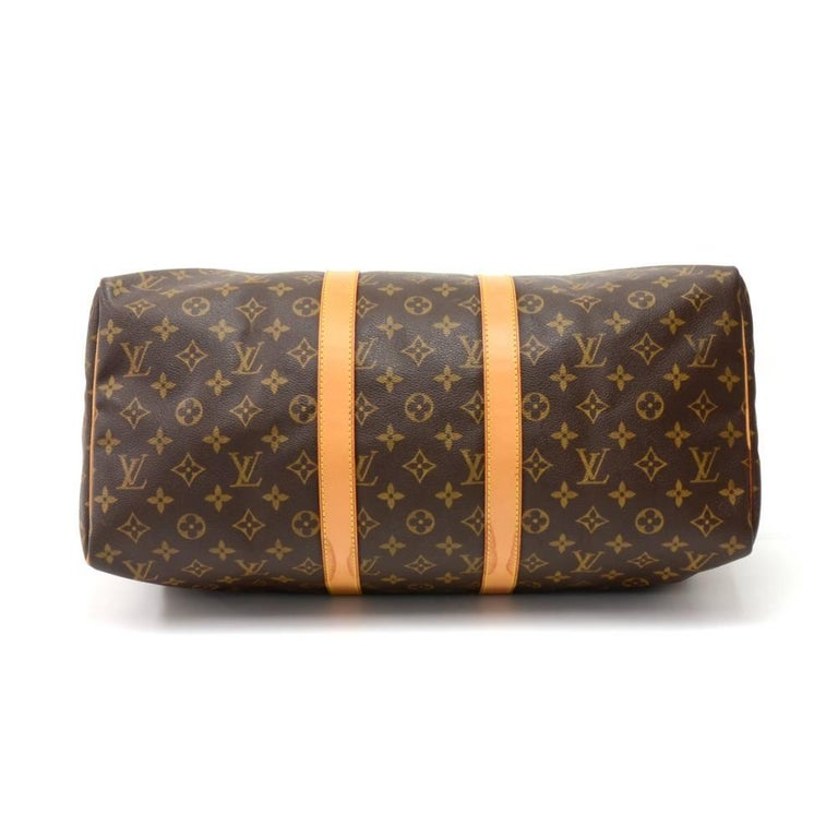 Louis Vuitton Keepall 45 Monogram Canvas Duffle Travel Bag  5