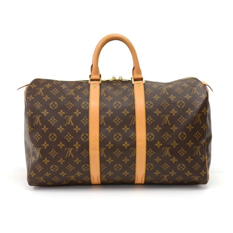 Louis Vuitton Keepall 45 Monogram Canvas Duffle Travel Bag  2