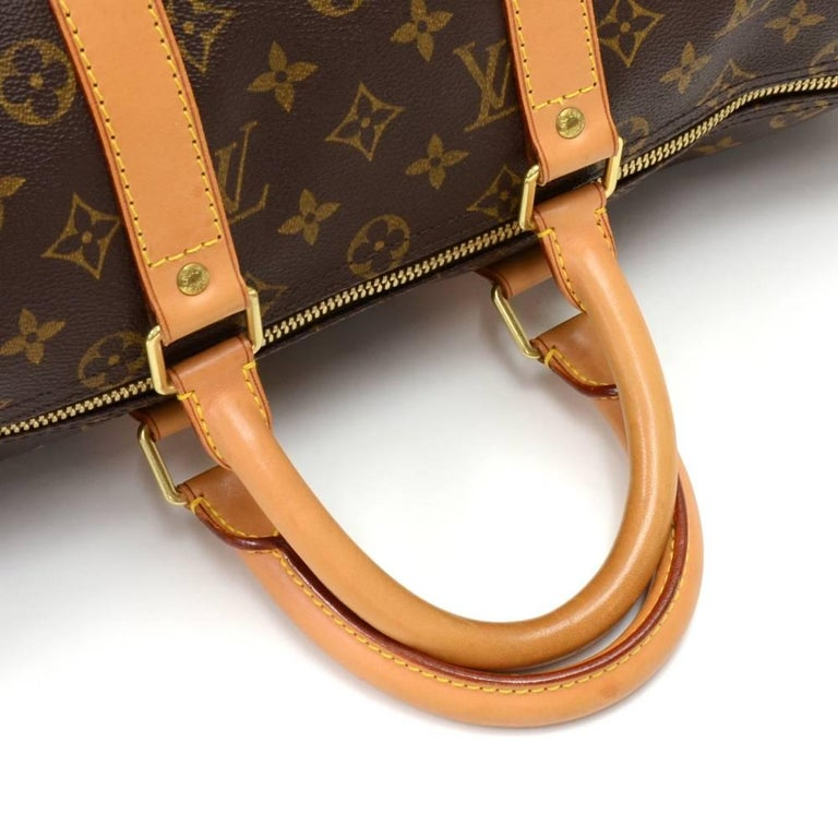 Louis Vuitton Keepall 45 Monogram Canvas Duffle Travel Bag  6
