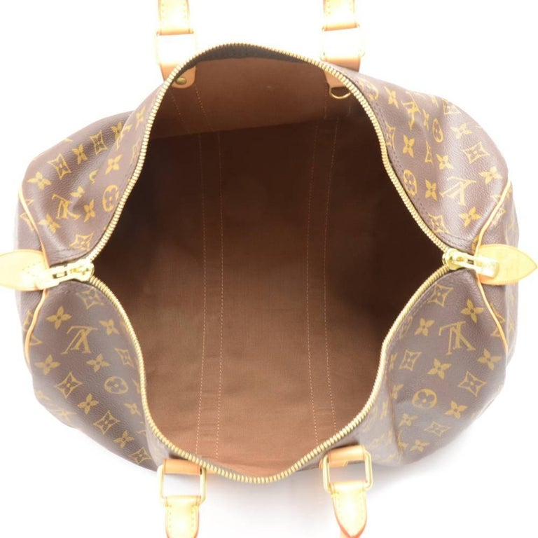 Louis Vuitton Keepall 45 Monogram Canvas Duffle Travel Bag  8