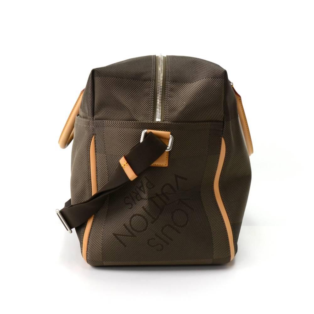 Louis Vuitton Sable Souverain Dark Brown Damier Geant Canvas Boston Bag uAvdWF17Bu