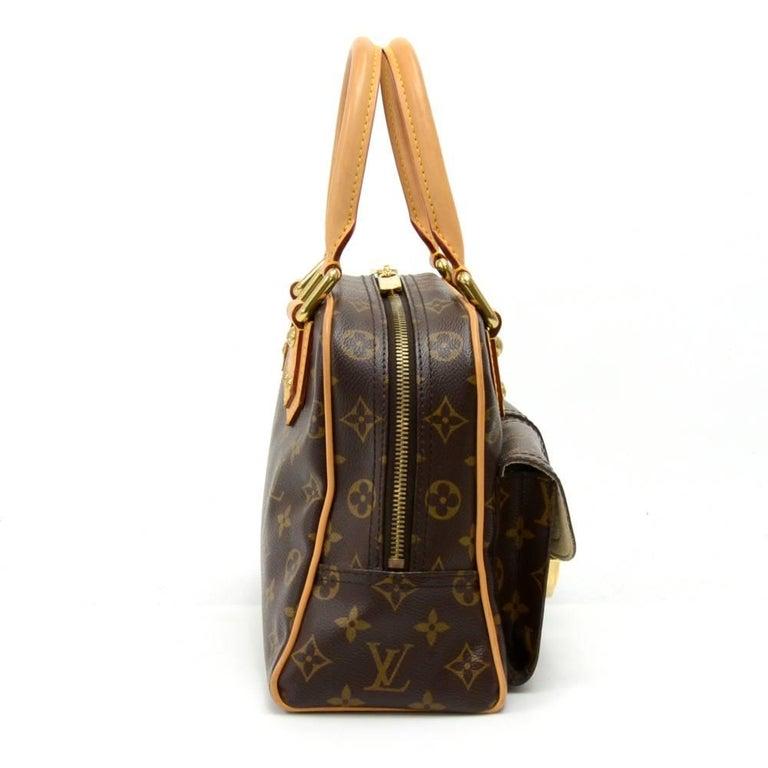 Louis Vuitton Manhattan PM Monogram Canvas Hand Bag In Good Condition For Sale In Fukuoka, Kyushu