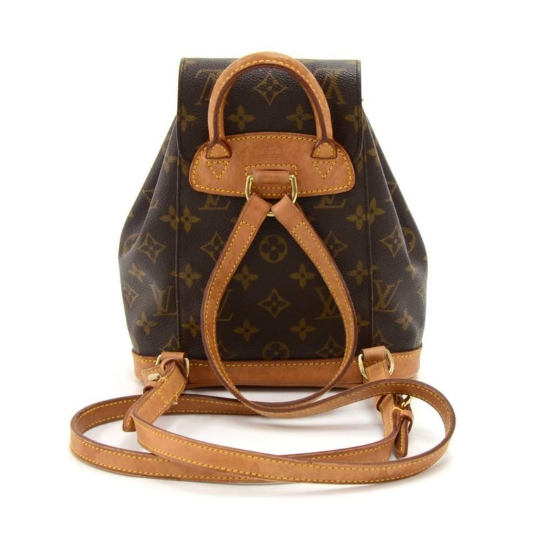 Louis Vuitton Mini Montsouris Monogram Canvas Backpack Bag ...