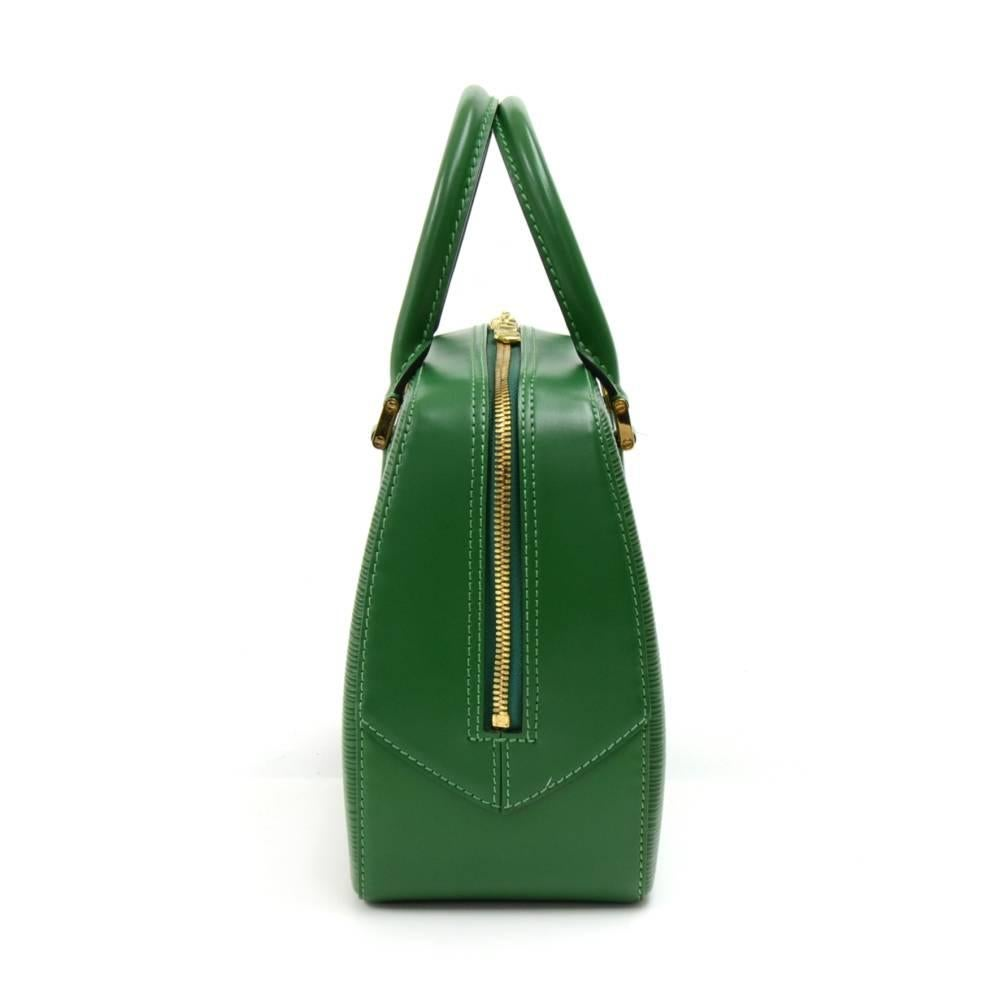 Louis Vuitton Vintage Sablon Green Epi Leather Hand Bag 3P9cUP