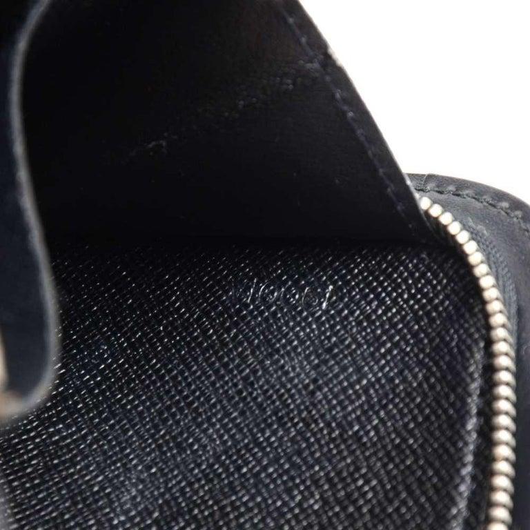Louis Vuitton Black Epi Leather Demi lune Wallet w/ coin case For Sale 3