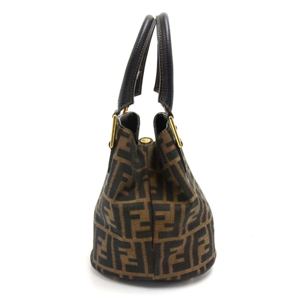 80bfda0983 ... sale vintage fendi tobacco zucca monogram canvas mini bucket bag in  good condition for sale in