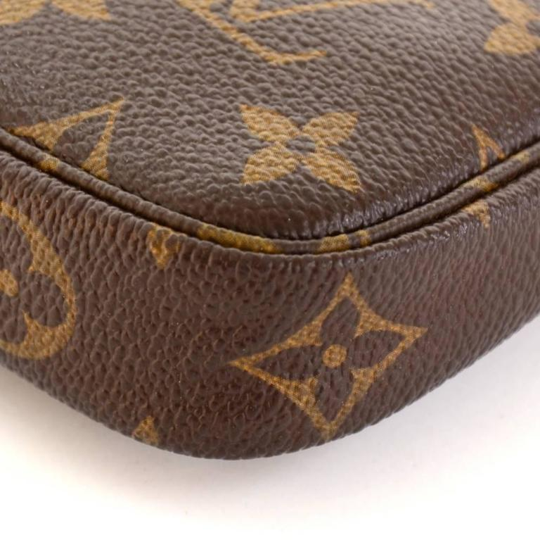 Louis Vuitton Mini Pochette Accessories T&B Monogram Canvas Pouch 7