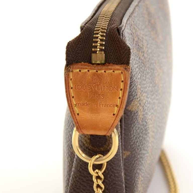 Louis Vuitton Mini Pochette Accessories T&B Monogram Canvas Pouch 8