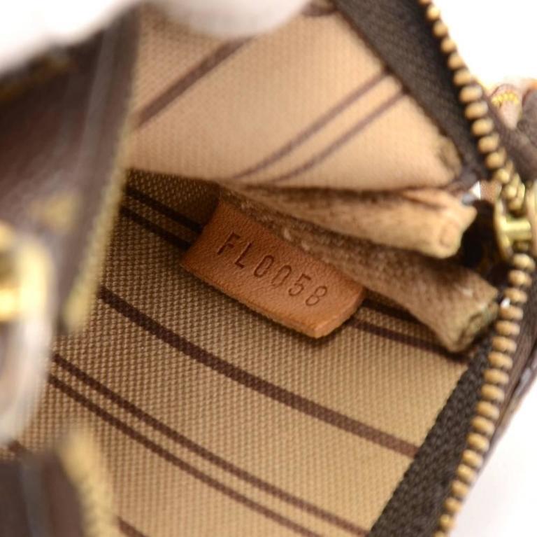 Louis Vuitton Mini Pochette Accessories T&B Monogram Canvas Pouch 9