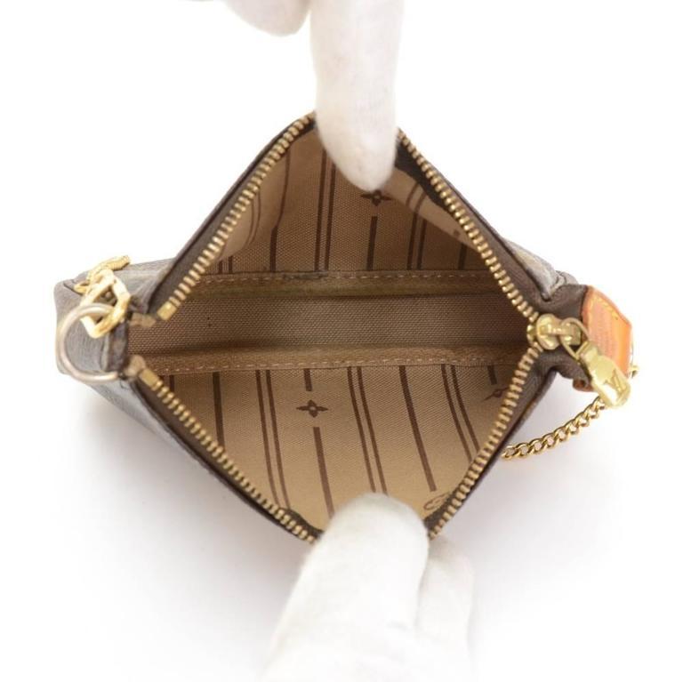 Louis Vuitton Mini Pochette Accessories T&B Monogram Canvas Pouch 10