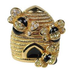 Swarovski Crystal Glitz Bumble Bee Brooch Pin New, Never Worn