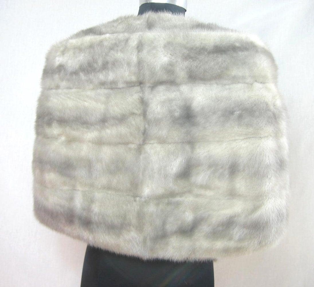 1960s Sapphire Mink Fur Stole Cape Jacket Fath 3