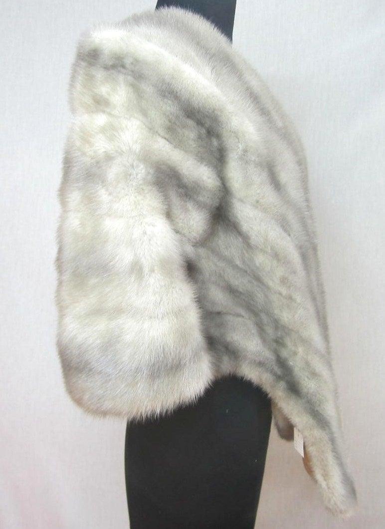 1960s Sapphire Mink Fur Stole Cape Jacket Fath 2