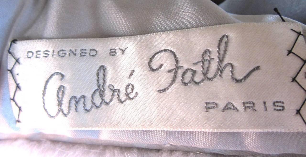1960s Sapphire Mink Fur Stole Cape Jacket Fath 5