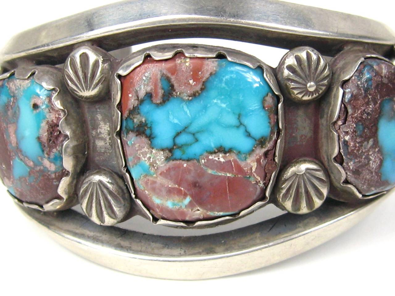 Vintage Navajo Cuff Sterling Silver Bracelet Old Pawn