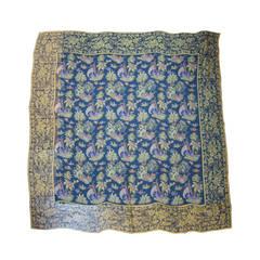 Salvatore Ferragamo Silk scarf oriental Motif Oversized