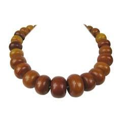 Massive 1930s graduated Bakelite Beaded Necklace