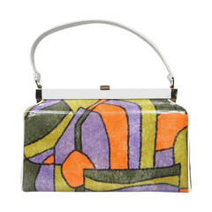 Mod 1960s Hand Bag New Old stock