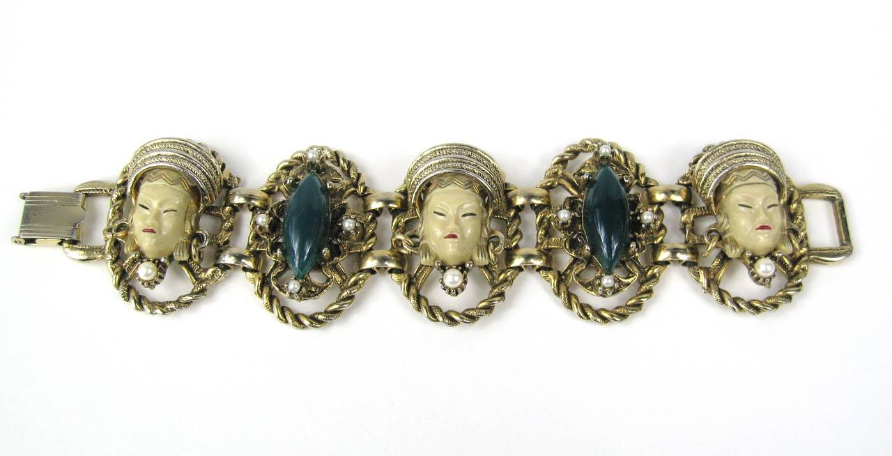 SELRO - SELINI Cream Golden Asian Princess Bracelet 3