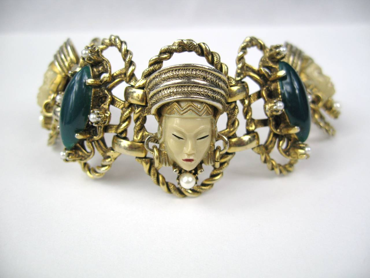 SELRO - SELINI Cream Golden Asian Princess Bracelet 2