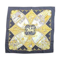 Hermès `La Vie a Cheval` Silk Scarf New Never worn