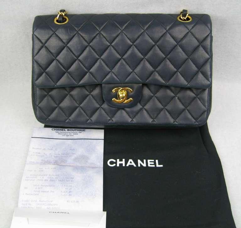 5bc4651d27bc0 Chanel Navy Blue Iconic Handbag At 1stdibs. Chanel Belt 2018 Bag Handbags  Wool Navy Blue Ref 74157
