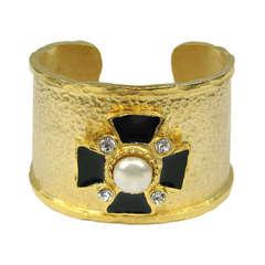 Yosca Gilt Gold Maltese Cross Cuff New Old Stock