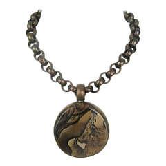 Stephen Dweck OOAK Bronze Jasper Necklace New never worn 1990s One of a Kind
