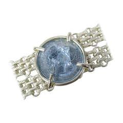1980's Dominique Aurientis Blue gripoix Intaglio  Bracelet New Old stock