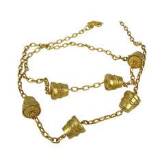 Karl Lagerfeld Gold Gilt Sautoir New Old Stock
