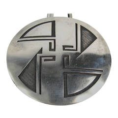 Large Native American HOPI Sterling silver Pin - Pendant Necklace