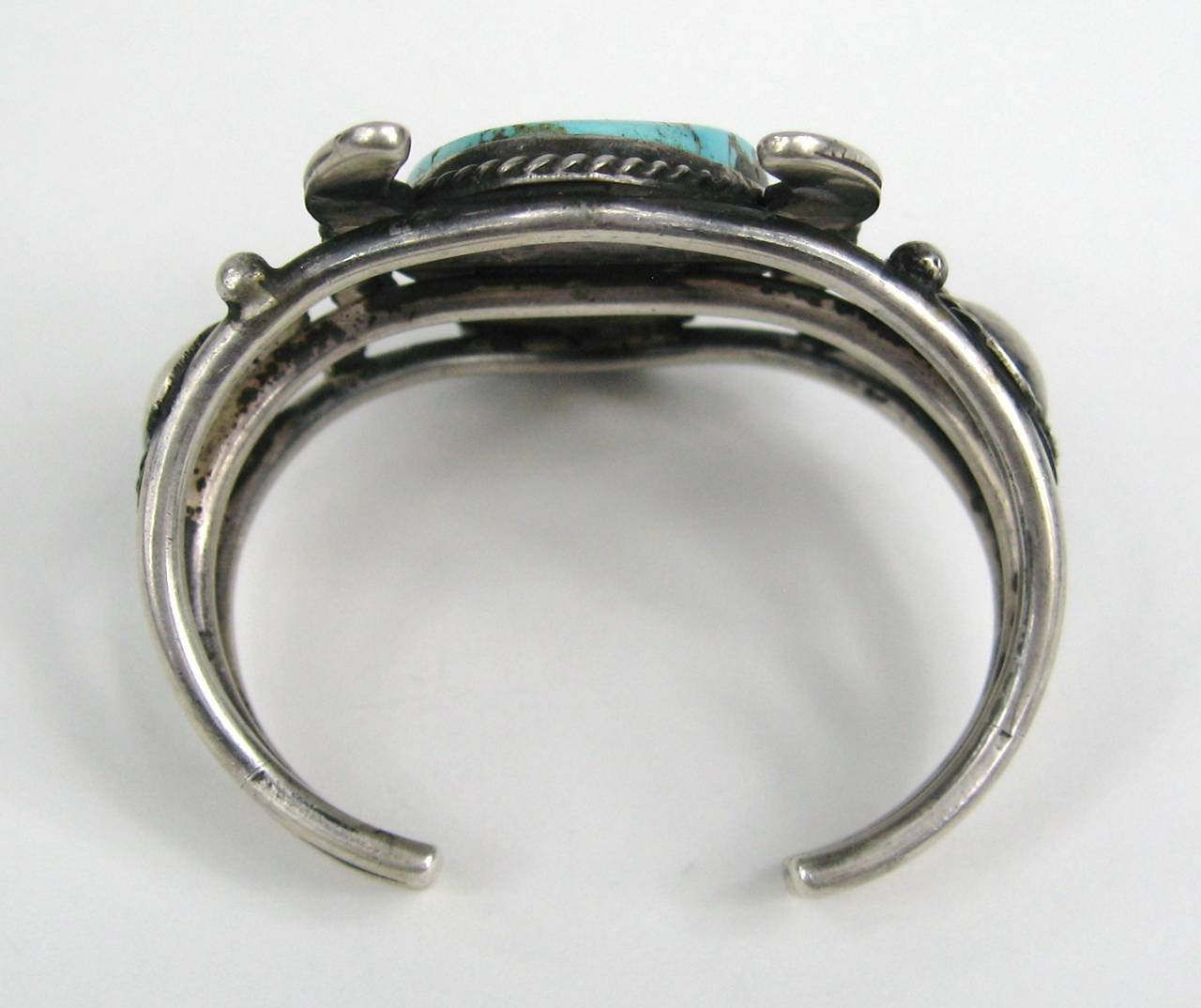OLD Pawn FTHI Navajo American Indian Sterling buffalo cuff 6